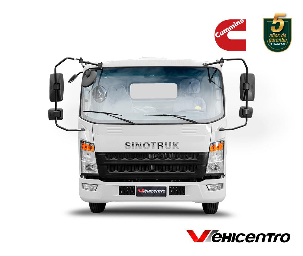 camión 5 toneladas blanco sinotruk 1167 frente